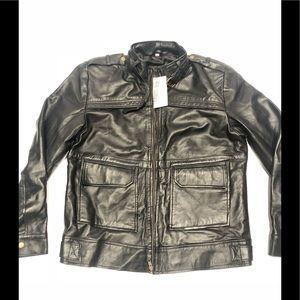 👨💼 100 % natural leather Moto jacket NWT L